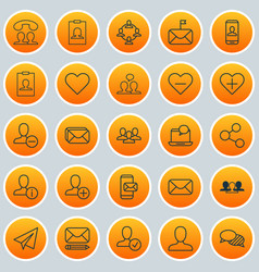 Social icons set collection of identity card vector