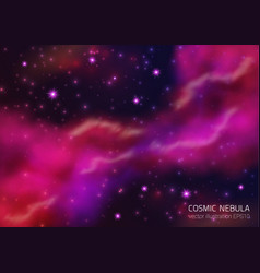 space background with stars and nebula vector image vector image