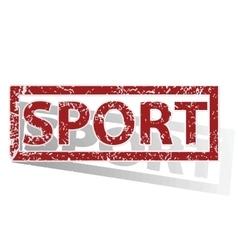 Sport outlined stamp vector