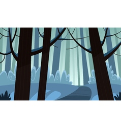 Winter forest trail vector