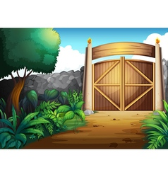 gate vector image