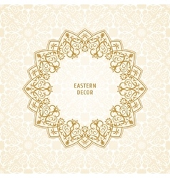 Oriental ornament ethnic lace pattern in vector