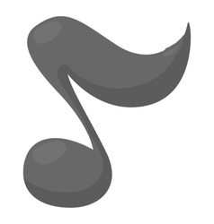 Music note icon cartoon style vector