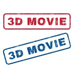 3d movie rubber stamps vector