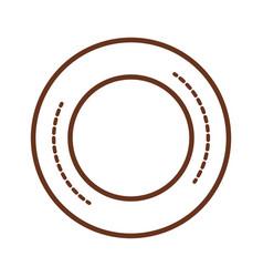 Circle seal decorative icon vector
