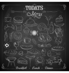 Menu chalk board vector