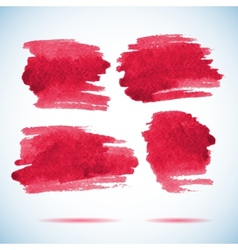 Brushstroke banners ink red watercolor spot vector