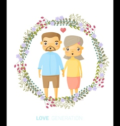 Love generation greeting card 3 vector
