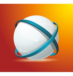 Abstract globe symbol internet and social network vector image