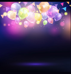balloons and bunting background vector image vector image