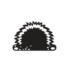 Black icon on white background grass and vector