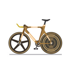 Brown professional sport bike vector