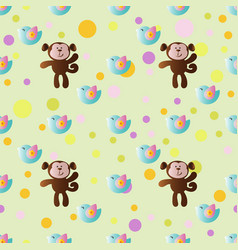 Cartoon cute toy baby monkey vector