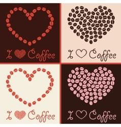 coffee love design vector image vector image