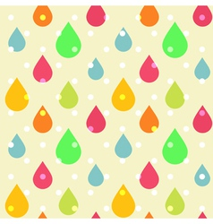Cute seamless pattern of colorful drops vector image vector image
