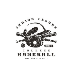 emblem of baseball team graphic design for t-shirt vector image