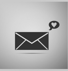 Envelope with valentine heart icon message love vector