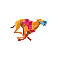 Greyhound Dog Racing Low Polygon vector image vector image