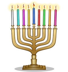 Hanukkah Lamp Hanukkiah vector image
