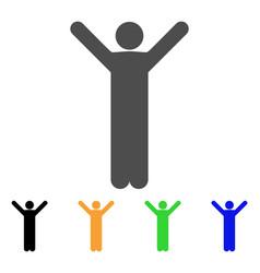 happy man icon vector image