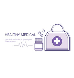 healthy medical online doctor mobile application vector image vector image