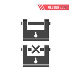 lock flat icon vector image vector image