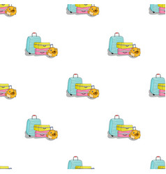 Luggage icon in cartoon style isolated on white vector