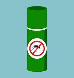 Mosquito spray bottle vector image