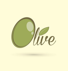olive text design graphic vector image vector image