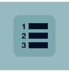 Pale blue numbered list icon vector