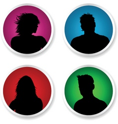 people stickers vector image vector image