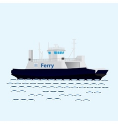Sea train ferry boat Big ship vector image