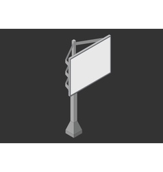 Signboard isometric flat 3d vector image vector image
