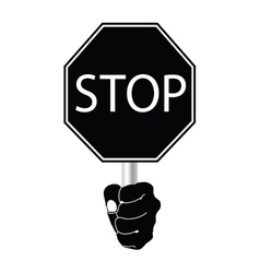 stop sign in black vector image vector image