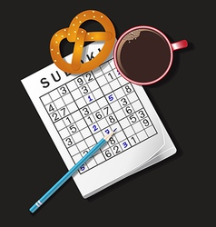 Sudoku coffee vector