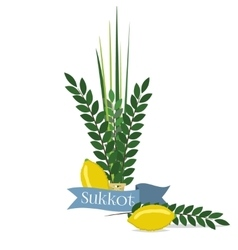 Sukkot - jewish holiday vector