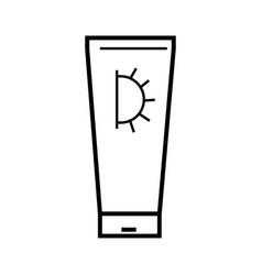sun cream icon vector image vector image