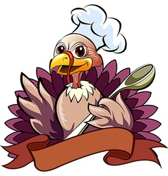 The turkey cook vector image vector image
