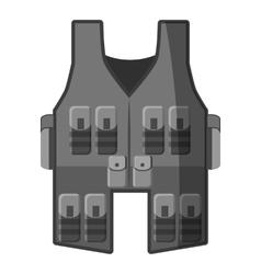 Vest icon gray monochrome style vector image vector image