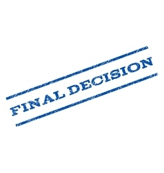 Final decision watermark stamp vector