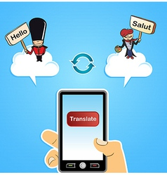 Cloud computing translate concept vector