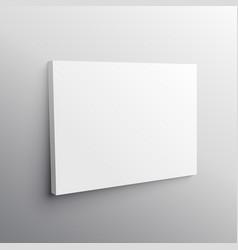 Empty wall canvas display mockup vector