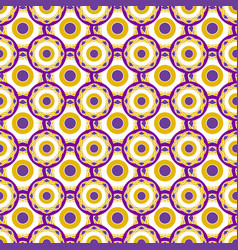 Retro geometric pattern with circles dots vector