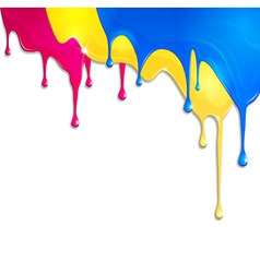 spilled paint vector image