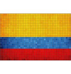 Mosaic flag of colombia vector
