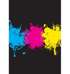 Cmyk splash vector