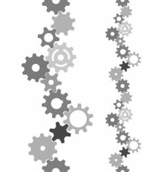 industry technology gears vertically tiling vector image