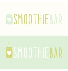 Smoothie bar logotypes vector