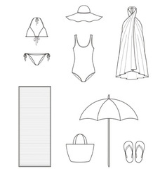 Beach clothes vector