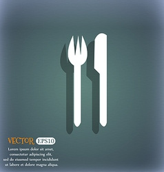 Eat sign icon cutlery symbol fork and knife on the vector